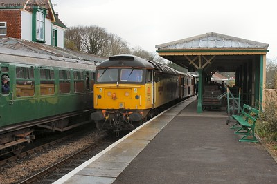 47739 arrives with the first southbound working of Saturday morning