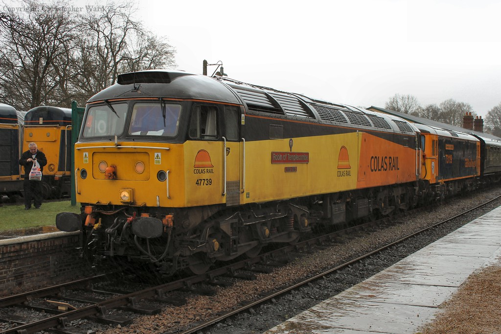 47739 prepares to swap with the class 20s