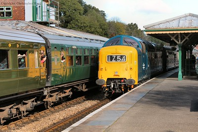 D9009 arrives from East Grinstead