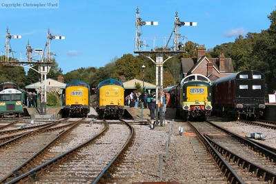 Three Deltics in a row in the heart of Sussex