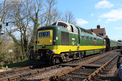D9009 backs onto the stock ahead of another departure