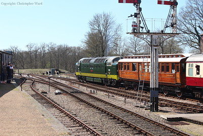 D9009 pulls away from Horsted Keynes