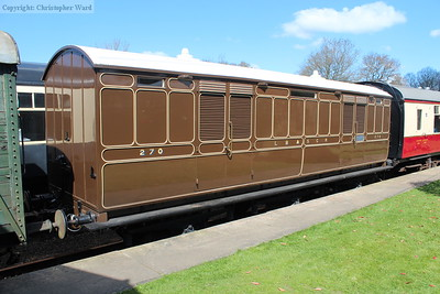 The LBSCR milk van no.270, recently restored