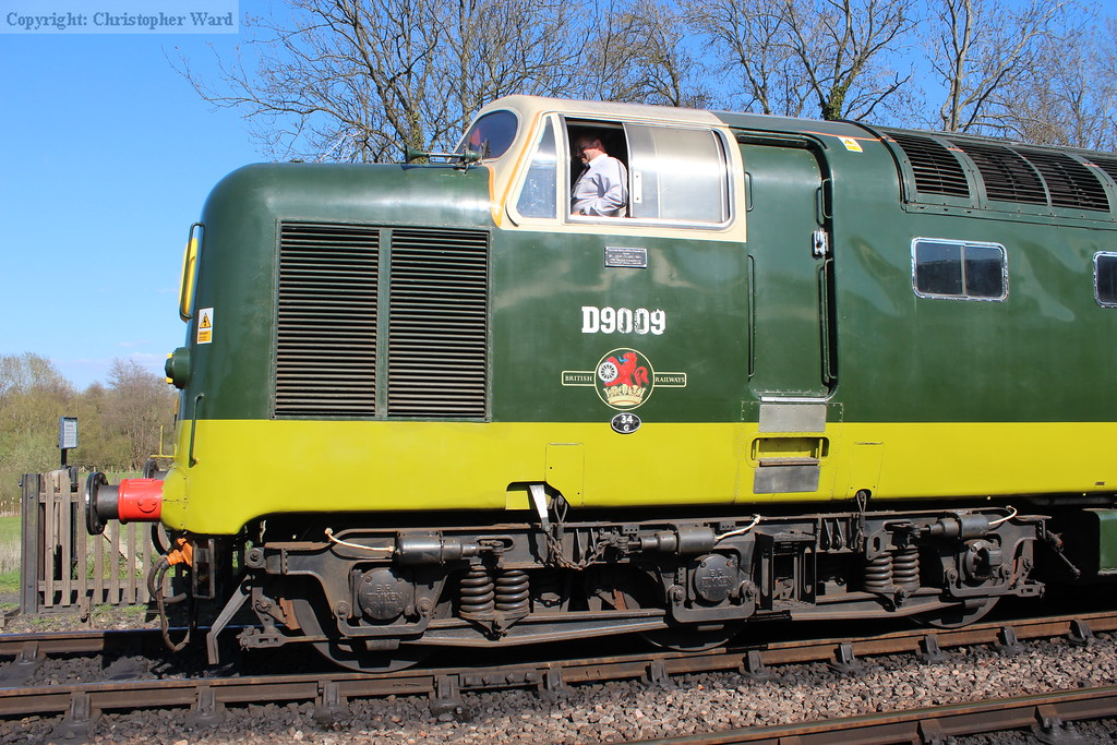 The cab and nose of the class 55
