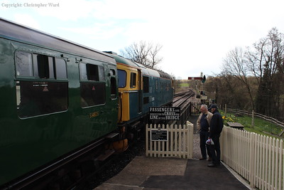 33103 is coupled onto the train