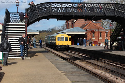 The DMU rather swallowed by the ever expanding station complex