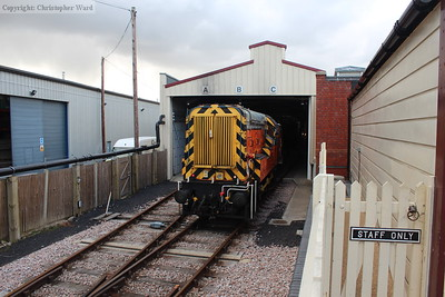 The 09 brings the stock out of the carriage shed