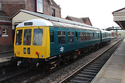 The ex-class 108 driving car in the hybrid DMU