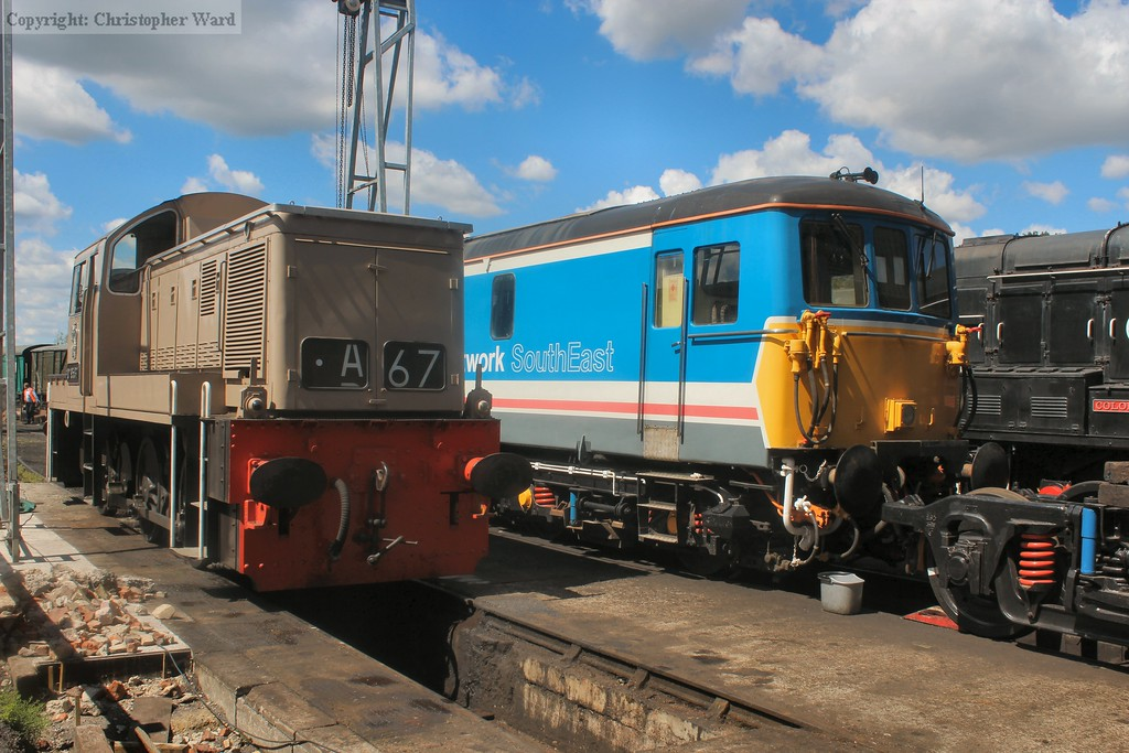 Class 14 and 73 line up in the yard
