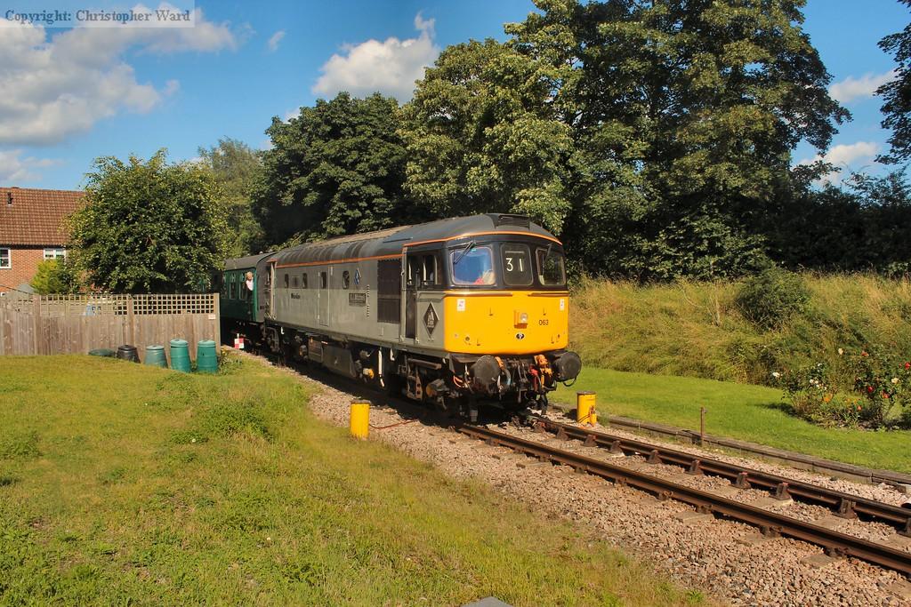 33063 R.J. Mitchell arrives at a sunny Groombridge