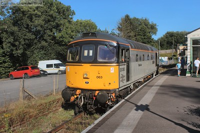 33063 sits in the dock at Eridge waiting to take her place on the service train