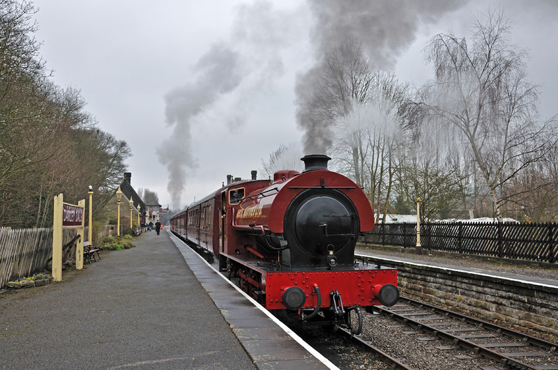 Mech Navvies, first train at Darley Dale heading to Matlock.