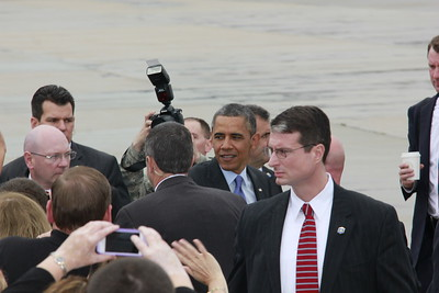 President Barack Obama arrival to Dix-McGuire-Lakehurst Military Base in Wrightstown, New Jersey