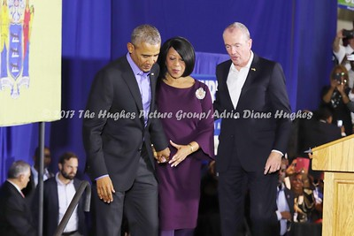 President Barack Obama kicked off the canvass rally for Democratic Candidate for NJ Governor Phil Murphy and his running mate Sheila Oliver in Newark, New Jersey