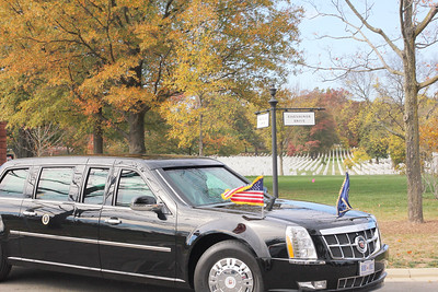 President Barack Obama, Remembering & Honoring Our Military Veterans at Arlington National Cemetery in Arlington, Virginia