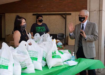 President Gilbert speaks to students
