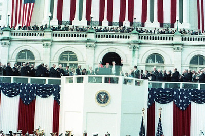 Ronald Reagan's Inauguration.  The National Archive / Unwritten Record Blog https://unwritten-record.blogs.archives.gov/2017/01/10/a-look-at-inauguration-day-through-the-years-inaugural-photographs-and-facts/