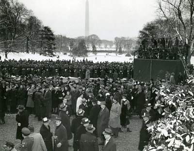 Scene from FDR's 1945 Inauguration.  The National Archive / Unwritten Record Blog https://unwritten-record.blogs.archives.gov/2017/01/10/a-look-at-inauguration-day-through-the-years-inaugural-photographs-and-facts/