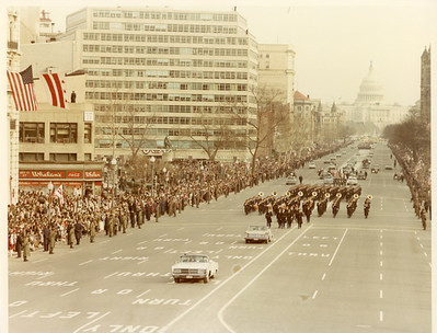 Lyndon B. Johnson's Inaugural Parade.  The National Archive / Unwritten Record Blog https://unwritten-record.blogs.archives.gov/2017/01/10/a-look-at-inauguration-day-through-the-years-inaugural-photographs-and-facts/