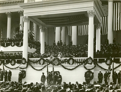 Taken 3/4/1921. President Warren G. Harding delivering his inaugural address.  The National Archive / Unwritten Record Blog https://unwritten-record.blogs.archives.gov/2017/01/10/a-look-at-inauguration-day-through-the-years-inaugural-photographs-and-facts/