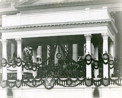 President Hoover delivering his inaugural address. March 4, 1929.  The National Archive / Unwritten Record Blog https://unwritten-record.blogs.archives.gov/2017/01/10/a-look-at-inauguration-day-through-the-years-inaugural-photographs-and-facts/