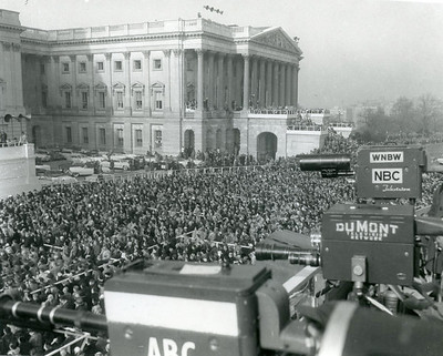 Scene from Eisenhower's Inauguration.  The National Archive / Unwritten Record Blog https://unwritten-record.blogs.archives.gov/2017/01/10/a-look-at-inauguration-day-through-the-years-inaugural-photographs-and-facts/