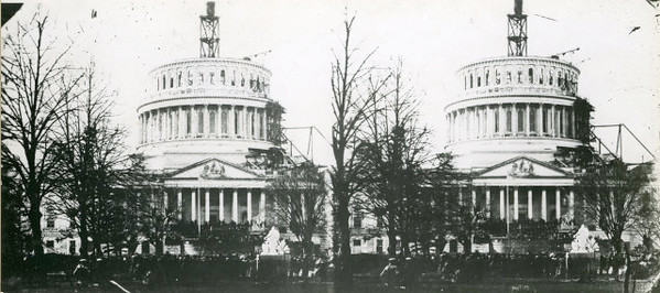 Lincoln's 1st Inauguration.  The National Archive / Unwritten Record Blog https://unwritten-record.blogs.archives.gov/2017/01/10/a-look-at-inauguration-day-through-the-years-inaugural-photographs-and-facts/