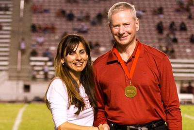 Bill Baker with Sonya Christian.