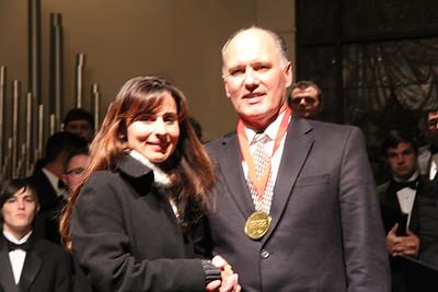 John Alexander with Sonya Christian.