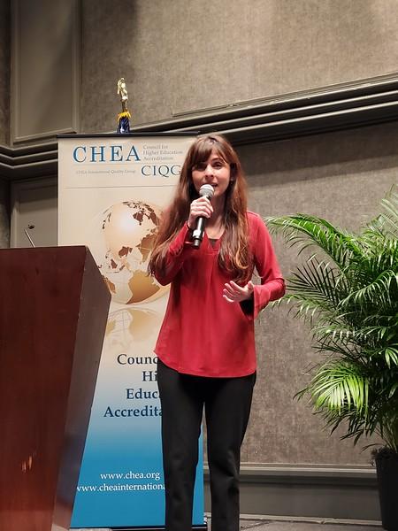 BC President, Sonya Christian speaks at the CHEA plenary gathering