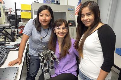 Sonya Christian with Robotics students