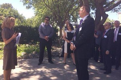 Chancellor Harris visits Bakersfield College