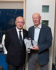David Lynch, winner of the Veterans Prize in the President's Prize receives his prize from President Colm