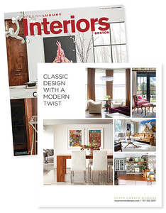 Photography featured in ad for Susan Corson Designs, shown in Modern Luxury Interiors magazine.