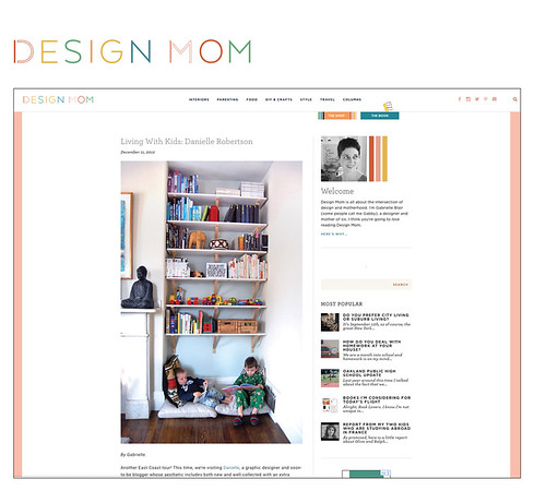 Interview and personal house tour on Design Mom.