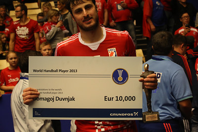 Domagoj Duvnjak, winner of the world handball player 2013, Århus, Denmark, 2014
