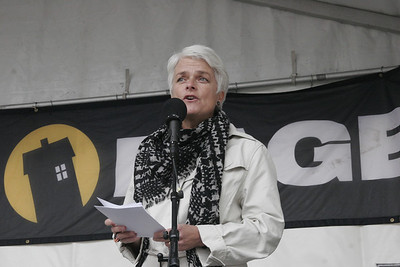 Annette Vilhelmsen‏, SF party, speech at the homeless day, Copenhagen, Denmark, 2013