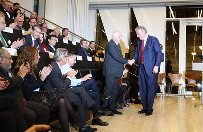 Václav Klaus, president of the Czech Republic and Lars Seier Christensen, CEO of Saxobank, Hellerup, Denmark, 2014