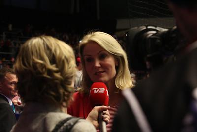 Helle Thorning-Schmidt, EHF EURO 2014, Århus, Denmark, 2014