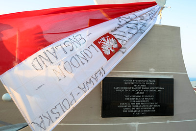 Back side of Sikorski Memorial, Gibraltar, 2014