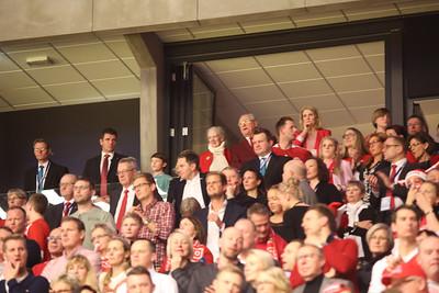Margrethe II of Denmark, Henrik Prince, Helle Thorning-Schmidt, EHF EURO 2014, Århus, Denmark