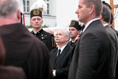 Jaroslaw Kaczynski,  demonstration Smolensk, Warsaw, Poland, 2010