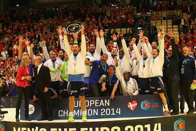 France handball team, winner of EHF EURO 2014, Århus, Denmark