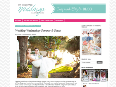 http://sandiegostyleweddings.blogspot.com/2017/02/wedding-wednesday-summer-stuart.html