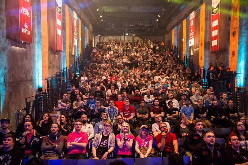 The Crowd of the ESL Meisterschaft Spring Finals 2017 enjoys the games.