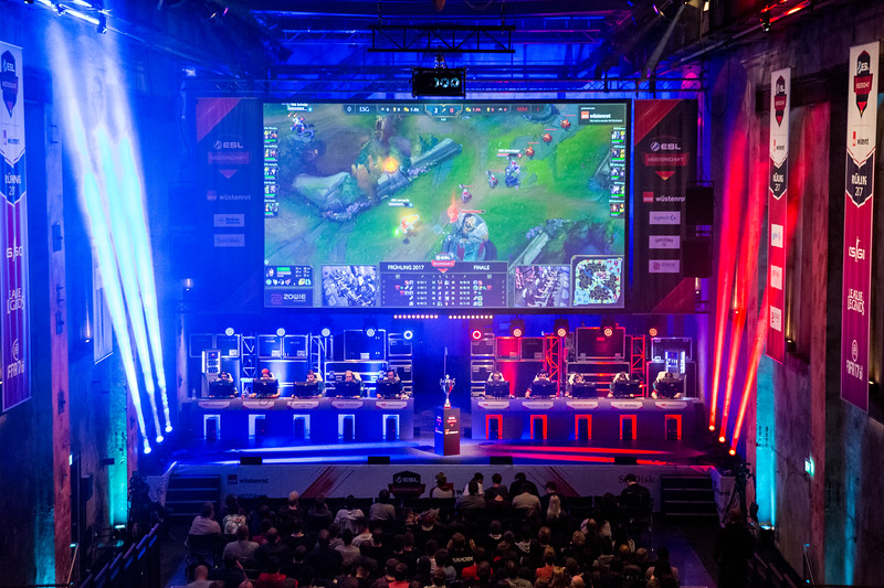 The League of Legends stage of the ESL Meisterschaft Spring Finals