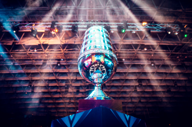 The trophy of ESL ONE Genting