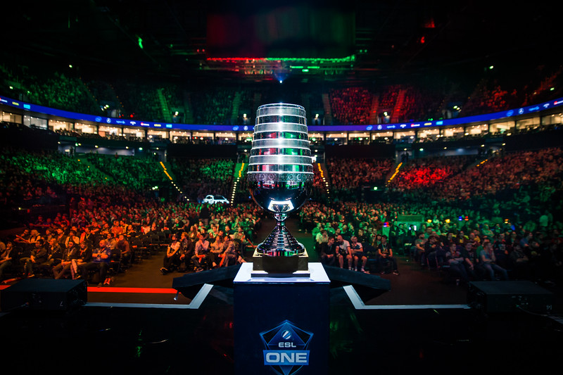 The Trophy of ESL One Hamburg 2017