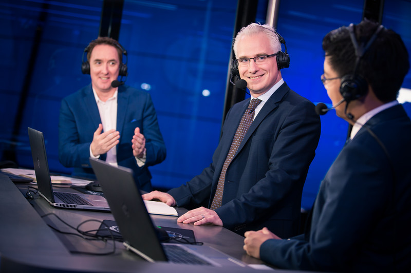 The analyst desk of ESL One Hamburg 2017