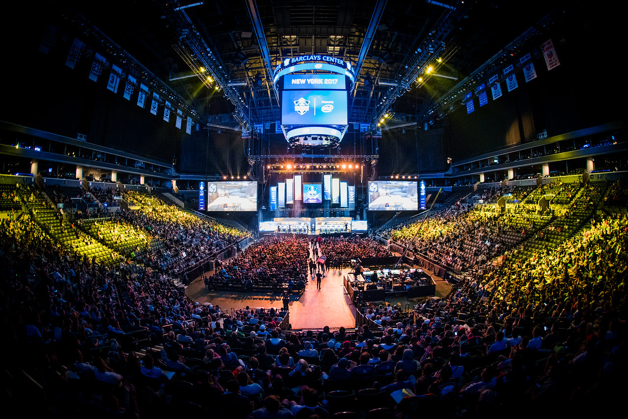 The amazing crowd during the grand finals of ESL One New York 2017